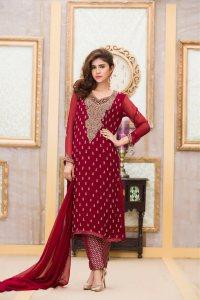 Exclusive Boutique MAROON Bridal Dress - Exclusive Online ...