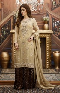 EXCLUSIVE GOLDEN AND BROWN BRIDAL WEAR - G16532 ...
