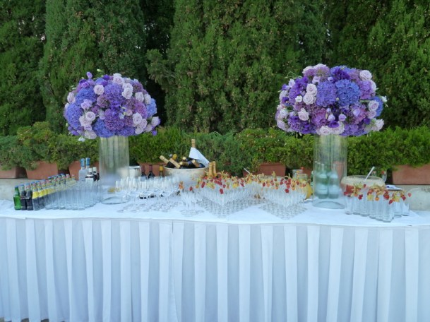 Buffet table at the Belvedere Terrace
