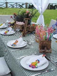 Kids tables decoration
