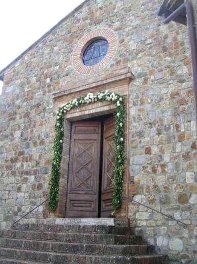 Church gate beautifully decorated