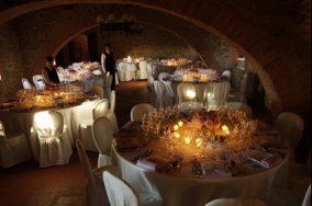 Wedding reception in the banqueting hall
