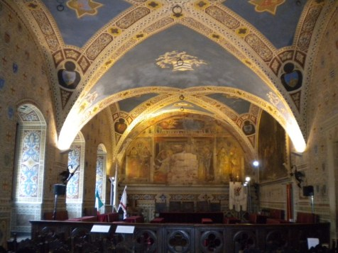 Volterra spectacular Marriage Hall in the Palazzo Comunale