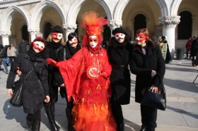 EIW celebrating Valentine's day in Venice during Carnival