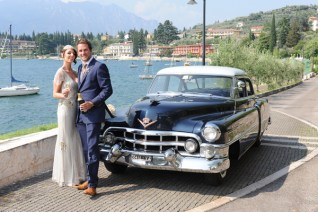 The reached the Castle with a wonderful Vintage car