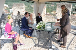 Wedding ceremony at the Castle Scaliger in Malcesine