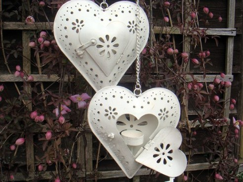Heart-shaped lanterns