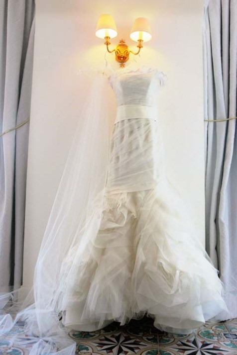 Bridal gown by Vera Wang