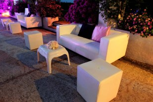 Lounge area for wedding reception