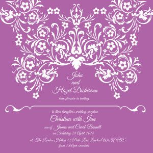 invitation radiant orchid