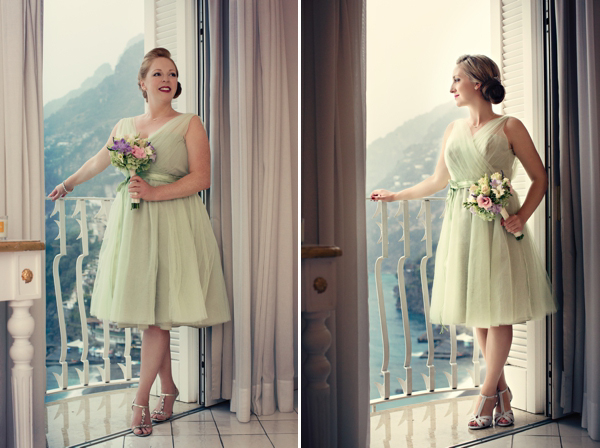 Fifties style wedding on the Amalfi Coast – Bridesmaids