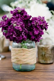 radiant orchid table decoration