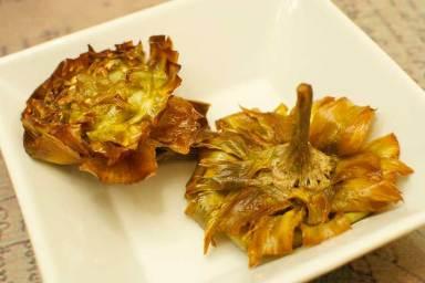 Carciofi alla giudìa - fried artichokes of the Roman ghetto