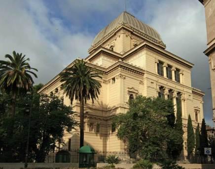 Exterior of the Tempio Maggiore in Rome