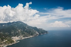 Breathtaking seaview on the Amalfi Coast of Italy