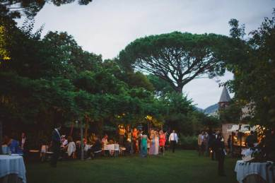 Outdoor wedding cocktail in Ravello