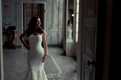 Portrait of the bride in Villa Durazzo