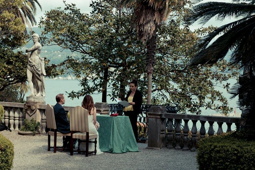 Outdoor civil ceremony in Santa Margherita Ligure