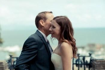 Newlyweds during Italian civil ceremony