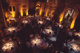 Wedding Banquet in the Courtyard of a Tuscan Castle
