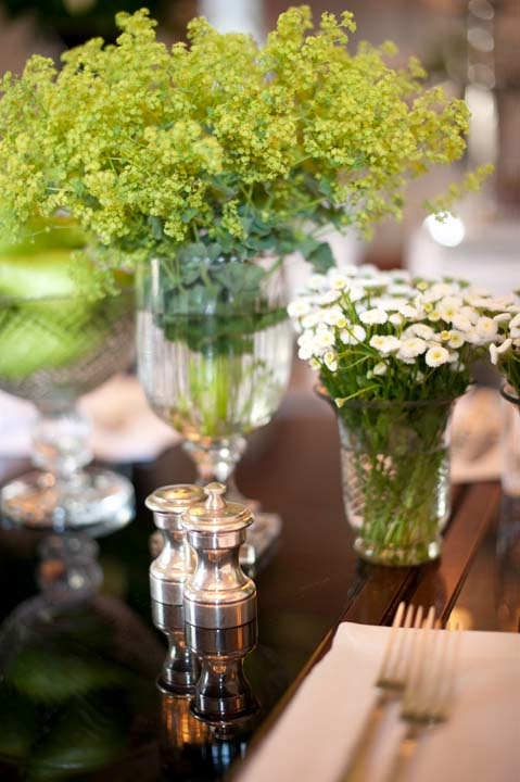Rustic chic vases for farewell brunch at Four Seasons in Florence