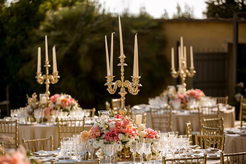 Outdoor Wedding Reception in Florence
