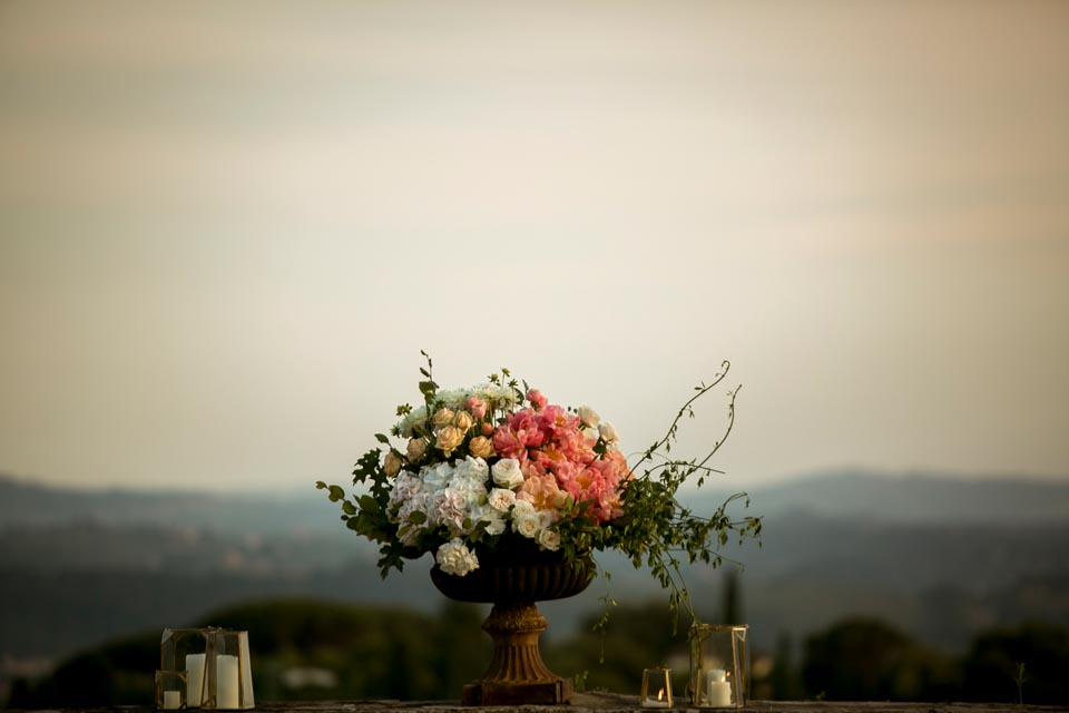 Decorations for Wedding in Florence Villa