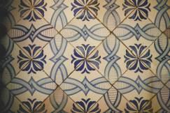 Ancient tiled floor in Ravello villa