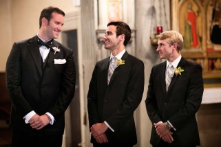 Groom and groomsmen at Florence wedding