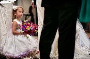Flower girl at Florence wedding