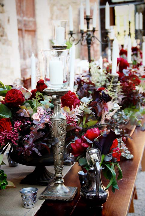 Decorations for wedding in Tuscany