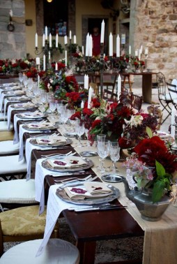 Decorations for wedding banquet