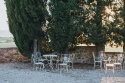 Gardens of Modanella Castle in Tuscany