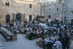 Wedding reception in a Tuscan castle