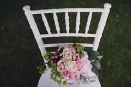 White chiavarina chairs for wedding reception in Ravello