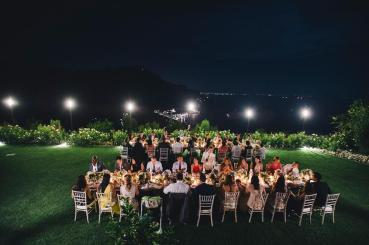Outdoor wedding reception on the Amalfi Coast