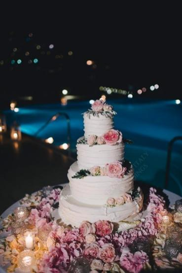 Wedding cake for Amalfi Coast wedding