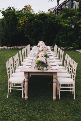 Long table for boho chic wedding