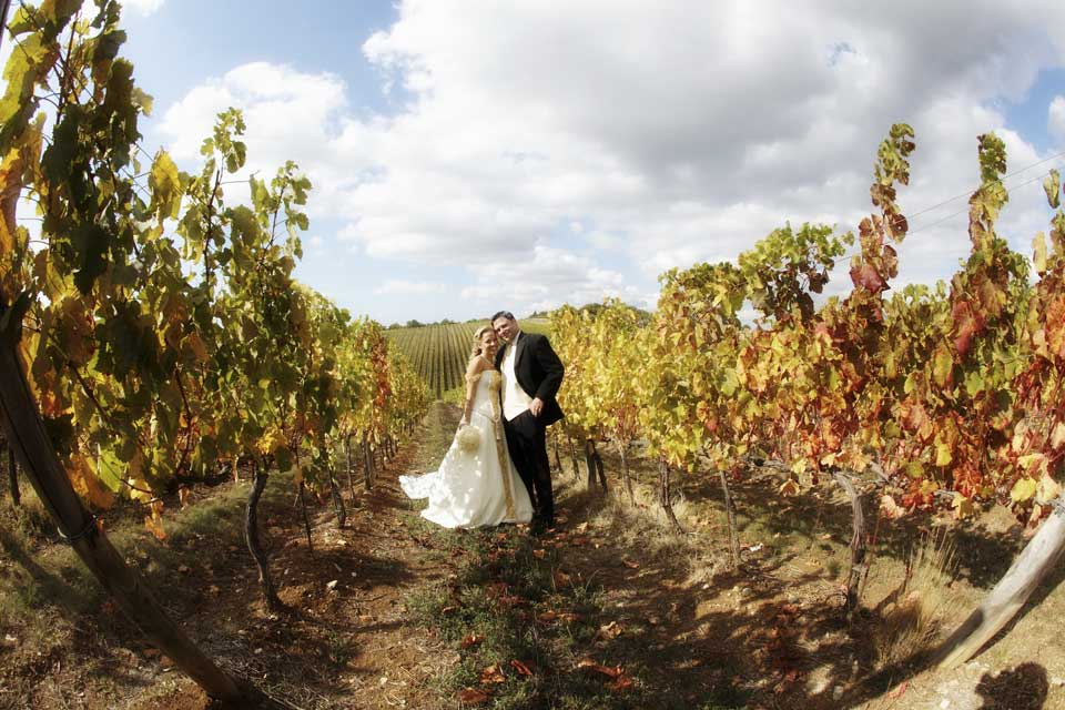 Autumn Wedding on the Tuscan Hills