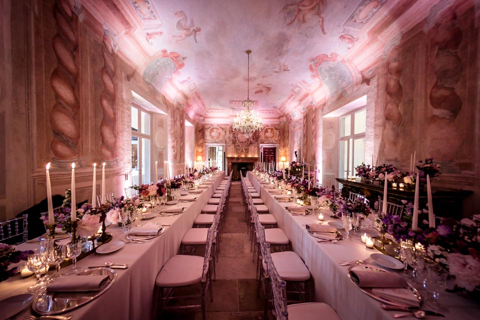 Elegant Wedding Banquet on Lake Como