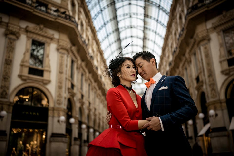 Bridal couple in Milan