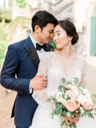 Portrait of the bridal couple