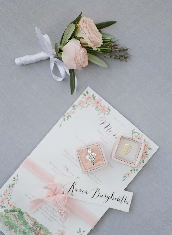 watercolor wedding menu