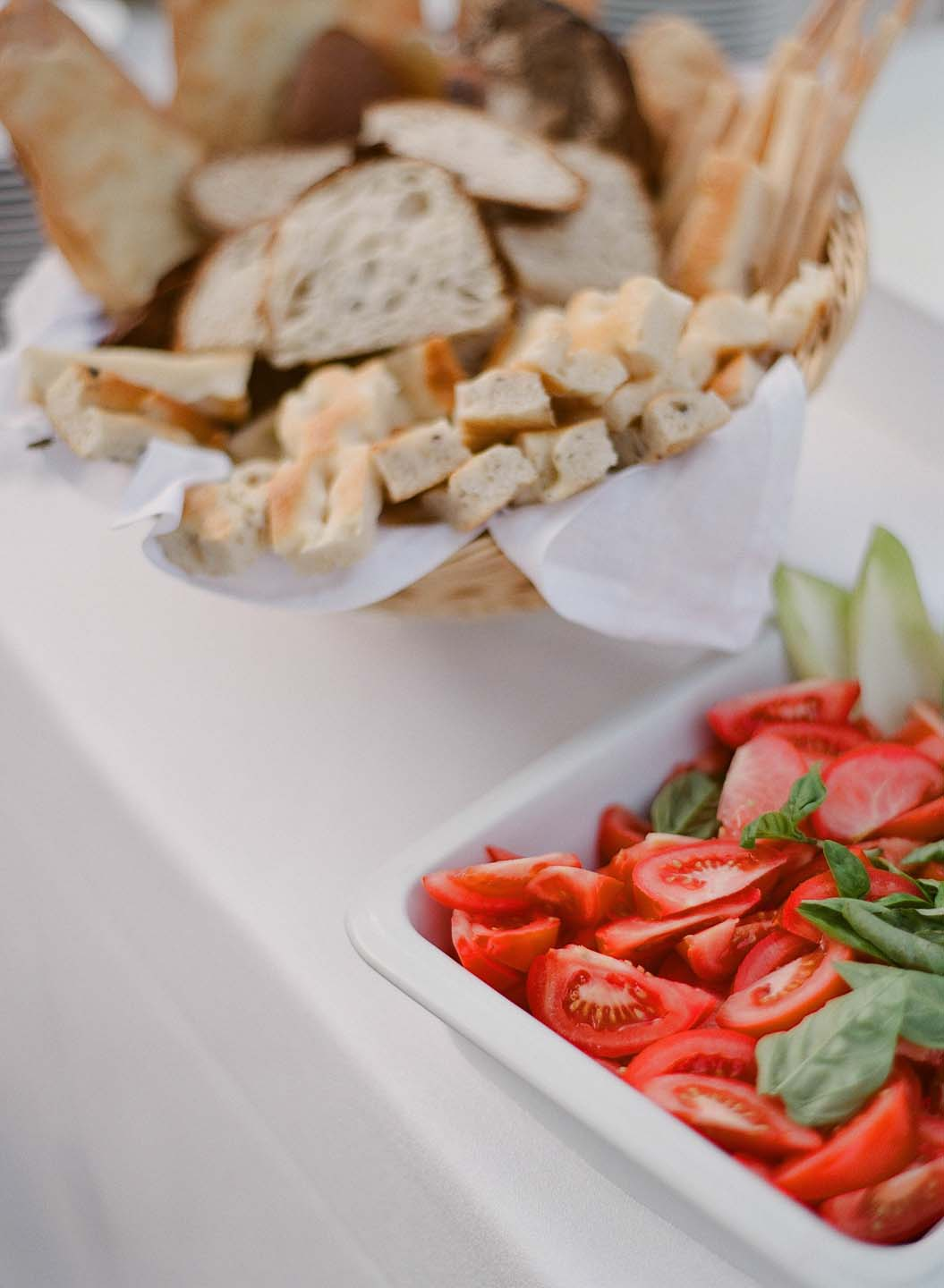 fresh tomatoes and homemade bread