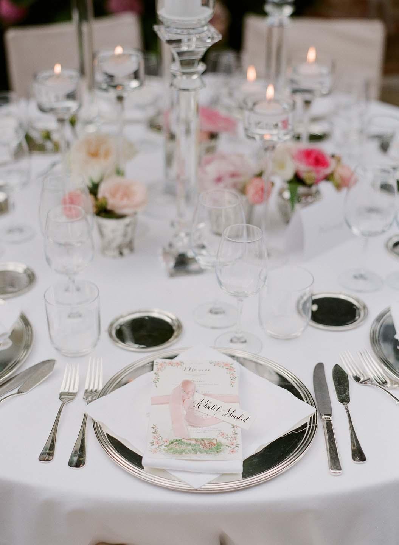 table setting for wedding in portofino