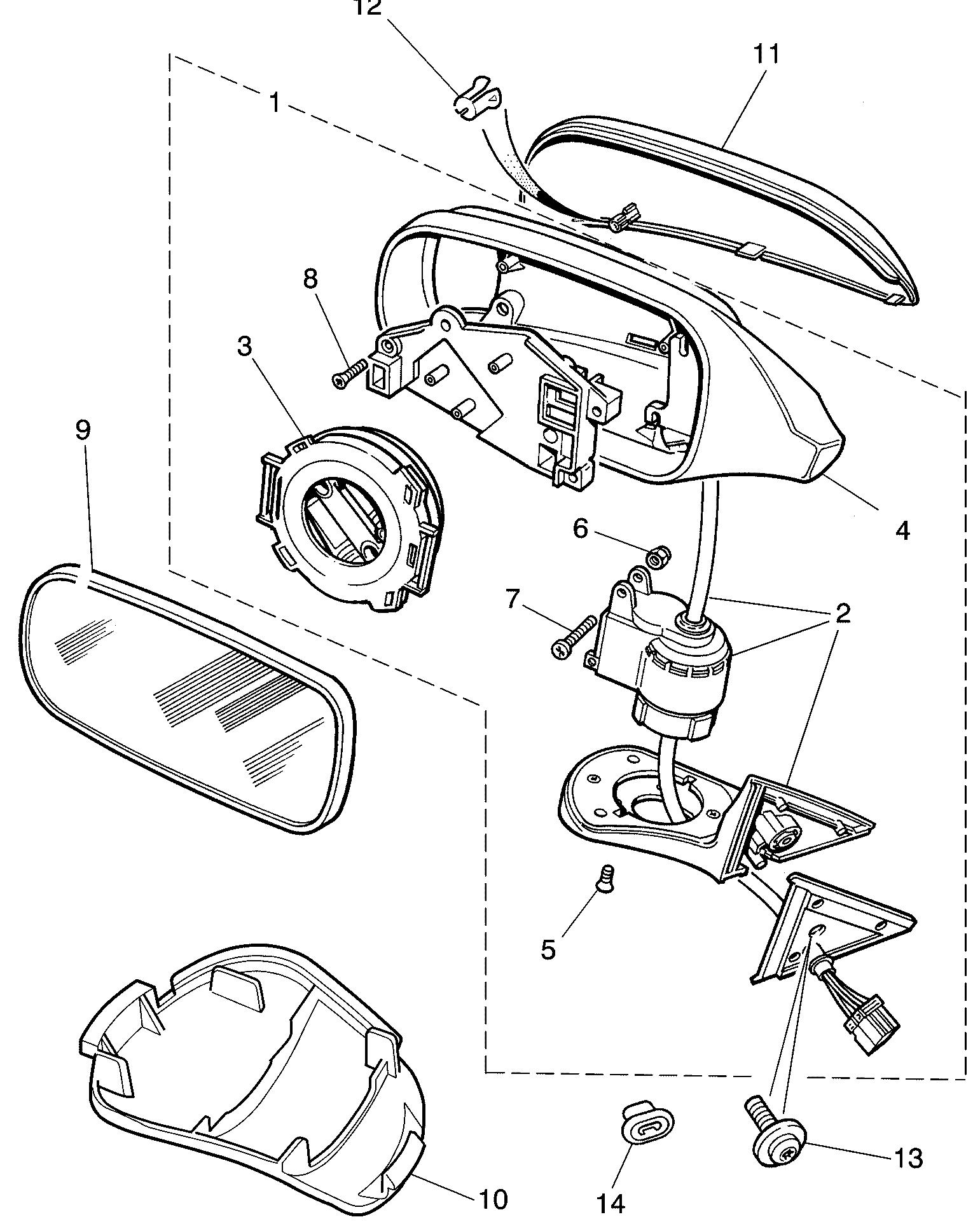 XJ8 ab 1997, XJ6/XJ12 ab 1994 und XKR8 Seitenspiegelglas