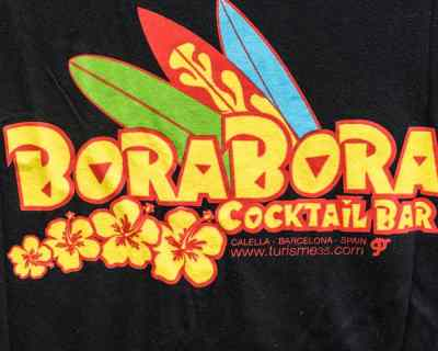 TEE SHIRT – AMERICAN ZONE – IMPRIMÉ BORA BORA COCKTAIL BAR – Size L