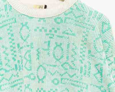 PULLOVER – GOLDEN SPIDER	– CREWNECK TRICOT GLYPH – Size L