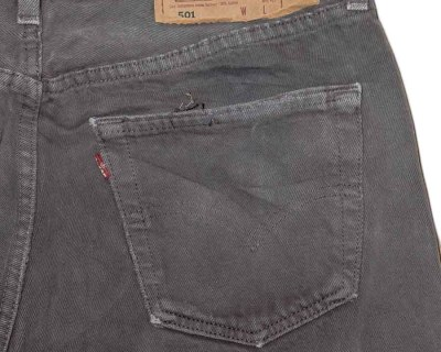 PANTS – LEVI'S – 501 WASHED GREY USA – Size S