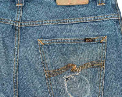 PANTS – NUDIE JEANS – JEANS INDIGO WASHED SELVEDGE – Size S
